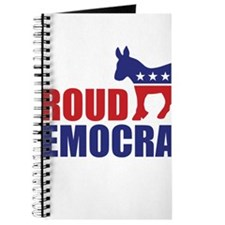 Proud Democrat Donkey Logo Journal