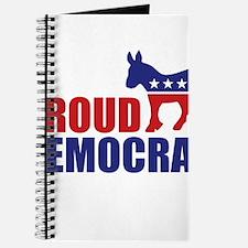 Proud Democrat Donkey Logo Journal
