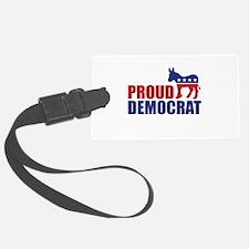 Proud Democrat Donkey Logo Luggage Tag