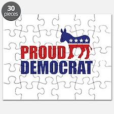 Proud Democrat Donkey Logo Puzzle