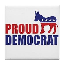 Proud Democrat Donkey Logo Tile Coaster