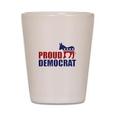 Proud Democrat Donkey Logo Shot Glass