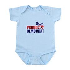 Proud Democrat Donkey Logo Body Suit