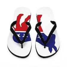 Democrat Original Donkey Logo Flip Flops