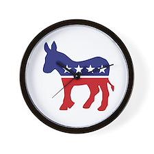 Democrat Original Donkey Logo Wall Clock