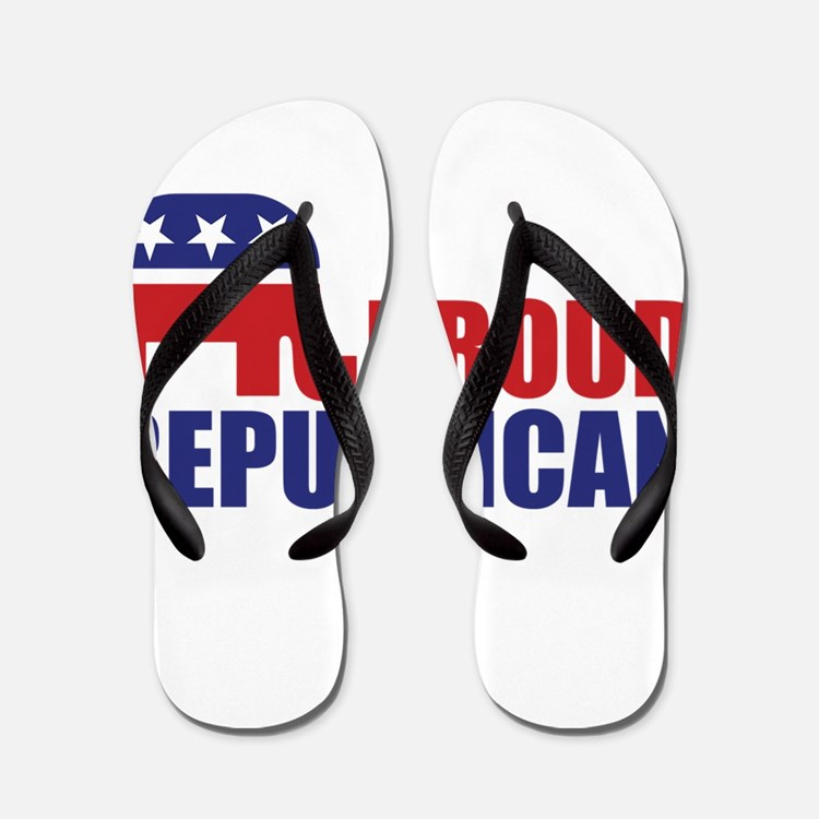 Proud Republican Elephant Logo Flip Flops