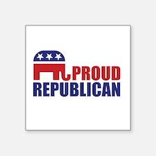Proud Republican Elephant Logo Sticker