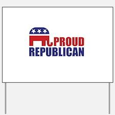 Proud Republican Elephant Logo Yard Sign