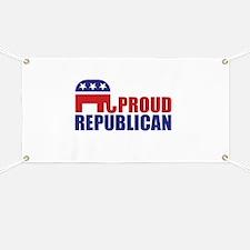 Proud Republican Elephant Logo Banner