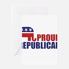 Proud Republican Elephant Logo Greeting Cards