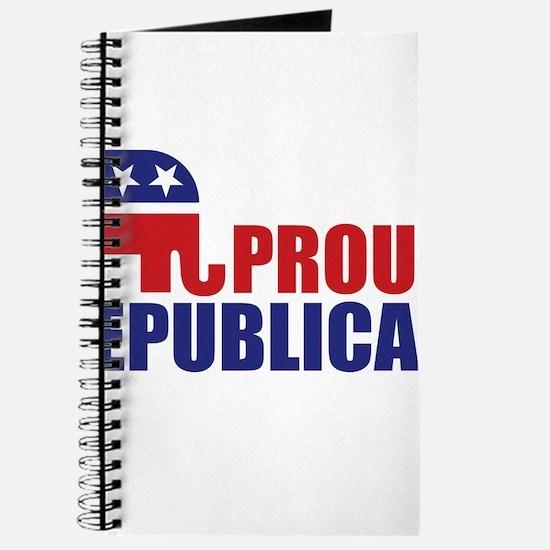 Proud Republican Elephant Logo Journal
