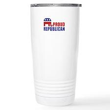 Proud Republican Elephant Logo Travel Mug