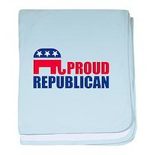 Proud Republican Elephant Logo baby blanket