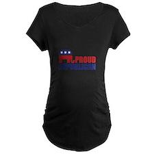 Proud Republican Elephant Logo Maternity T-Shirt