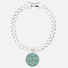 Native American Beadh Pattern Green Bracelet