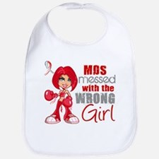 MDS Messed With Wrong Girl Bib