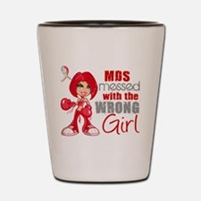 MDS Messed With Wrong Girl Shot Glass
