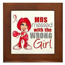 MDS Messed With Wrong Girl Framed Tile