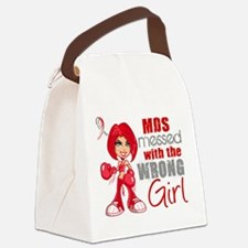 MDS Messed With Wrong Girl Canvas Lunch Bag
