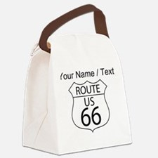 Custom U.S. Route 66 Sign Canvas Lunch Bag