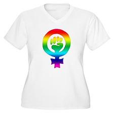 femfistrainbow.jpg Plus Size T-Shirt