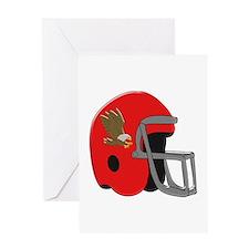 American Football Helmet Greeting Cards