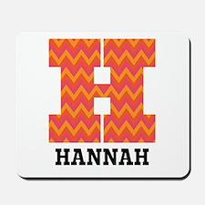 Personalized H Monogram Mousepad