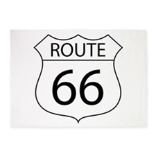 Route 66 Sign 5'x7'Area Rug
