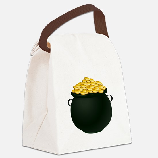 Pot Of Gold Canvas Lunch Bag