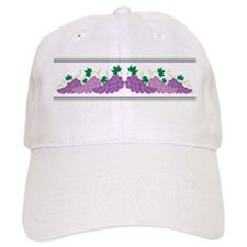 Purple Grapes Baseball Baseball Cap