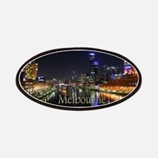 Melbourne City Light Yarra River Reflection Patche