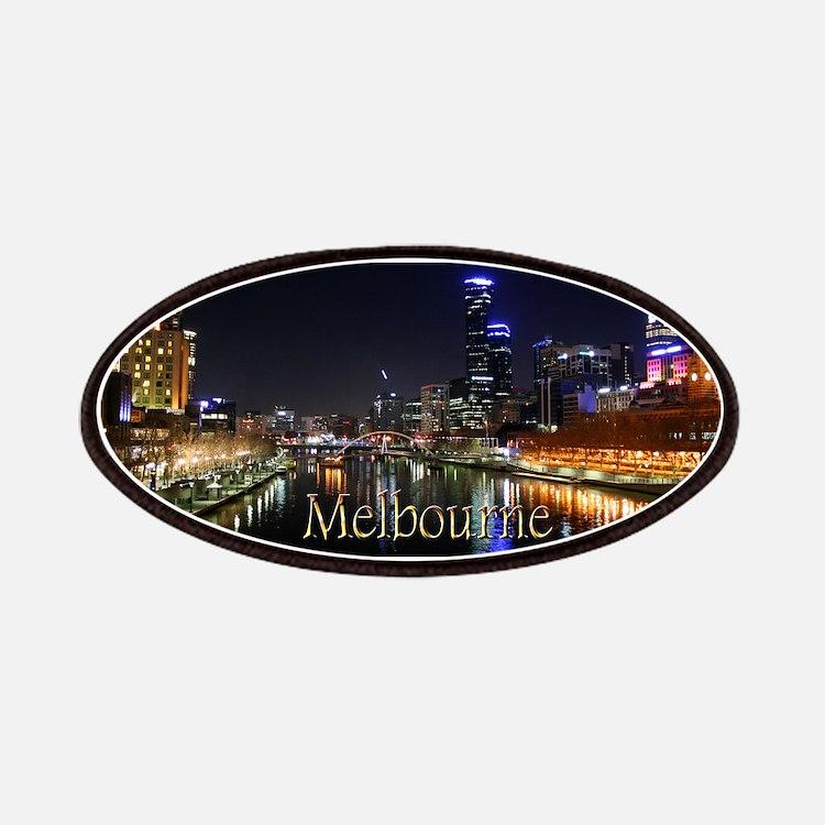 Melbourne City Light Yarra River Reflection Patche