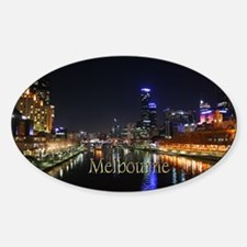 Melbourne City Light Yarra River Reflection Sticke
