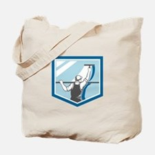 Window Cleaner Washer Worker Shield Retro Tote Bag