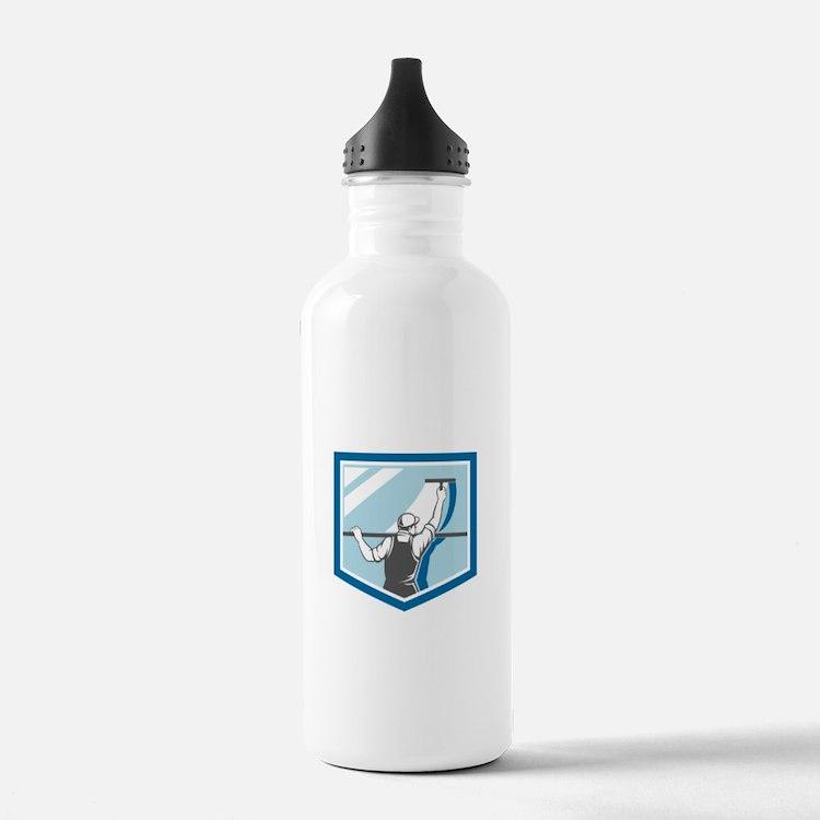 Window Cleaner Washer Worker Shield Retro Water Bo