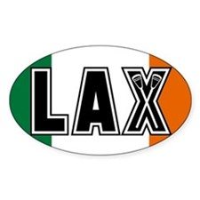 Lacrosse Flag Ireland Oval Decal