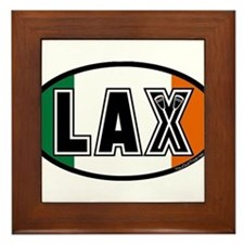 Lacrosse Flag Ireland Oval Framed Tile