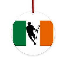 Lacrosse Flag IRock Ireland Ornament (Round)