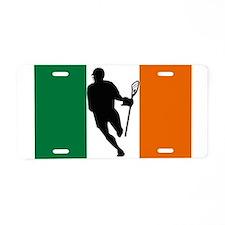 Lacrosse Flag IRock Ireland Aluminum License Plate