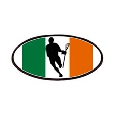 Lacrosse Flag IRock Ireland Patches