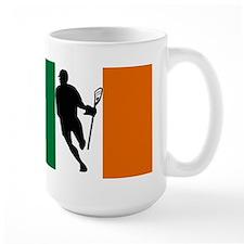 Lacrosse Flag IRock Ireland Mugs