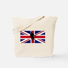 Lacrosse Flag IRock United Kingdom Tote Bag