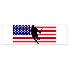 Lacrosse Flag IRock America Bumper Bumper Sticker