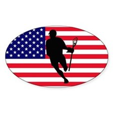 Lacrosse Flag IRock America Sticker