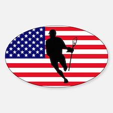 Lacrosse Flag IRock America Decal