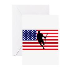 Lacrosse Flag IRock America Greeting Cards