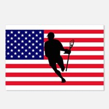 Lacrosse Flag IRock America Postcards (Package of