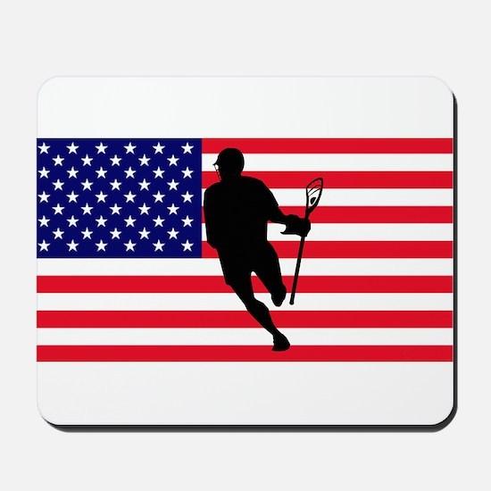 Lacrosse Flag IRock America Mousepad