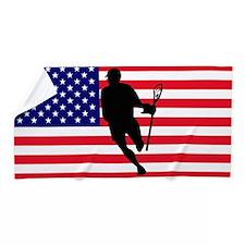 Lacrosse Flag IRock America Beach Towel