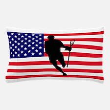 Lacrosse Flag IRock America Pillow Case